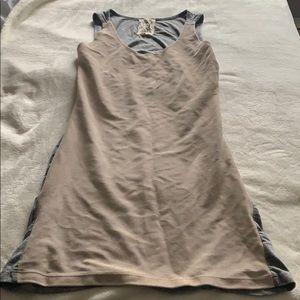 Gold and grey t-shirt dress